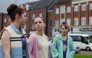 Ria Zmitrowicz, Molly Windsor and Liv Hill in Three Girls.