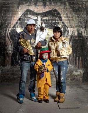 The Gonzalez Family at the International Temple of Santa Muerte, Estado de Mexico.