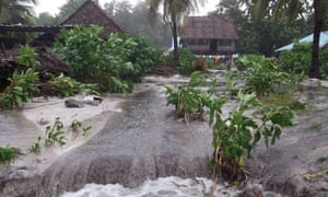 Tropical Cyclone Pam rips through Kiribati in 2015.