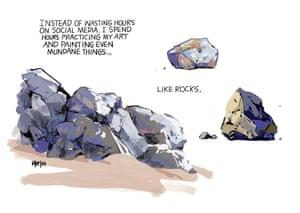 cartoon of rocks