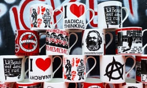 Activist mugs at Stokes Croft pottery