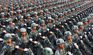 China's one-child policy has created a country with a very large number of unmarried men of military age.