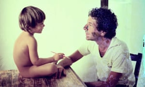 The young Adam Cohen and his father Leonard Cohen