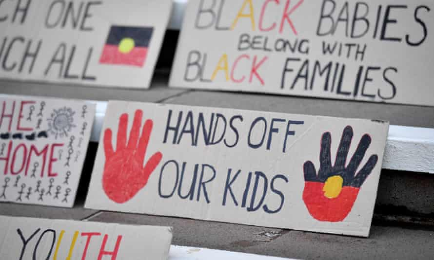 Protesters gather for a march organised by Grandmothers Against Removals (GMAR) to mark Aboriginal and Torres Strait Islander Children's Day, Sydney.