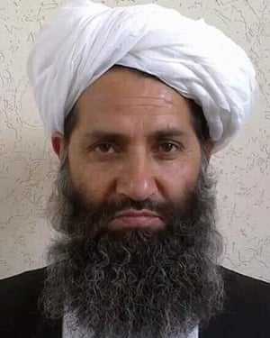 A photo released by the Afghan Taliban purporting to show new leader Mullah Haibatullah Akhundzada.