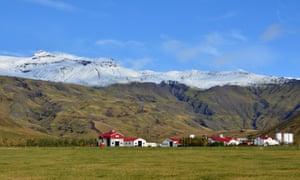 Eyjafjallajökull volcano in southern Iceland.