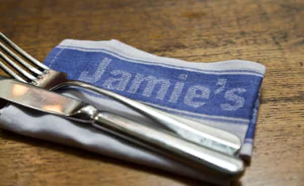 Tableware in a branch of Jamie's Italian … losing the chain last year was a blow.