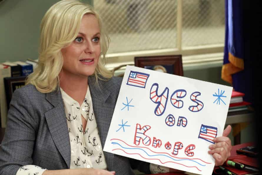 Office politics … Amy Poehler as Leslie Knope in Parks and Recreation.
