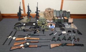Guns and ammunition found by investigators at the Maryland home of Christopher Hasson