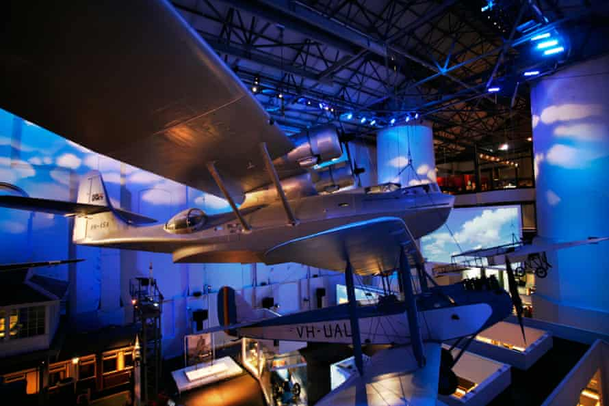 The Catalina Flying Boat, an 8.5tonne aircraft suspended in the Powerhouse Museum, Sydney