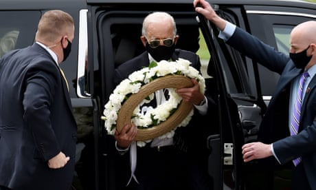 'Feels good to be out of my house': Biden lays Memorial Day wreath in Delaware