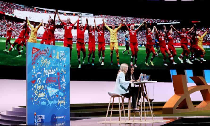 Amanda Vandervolt at the FIFA Women's Soccer Tournament in Paris in 2019.