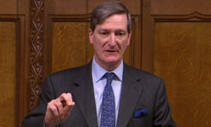 Dominic Grieve speaking in the Commons during a debate on the withdrawal agreement earlier this year.