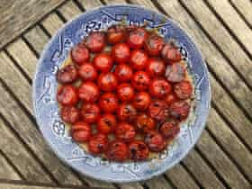Tamasin Day-Lewis uses cherry tomatoes and forgoes sugar in the caramel altogether.