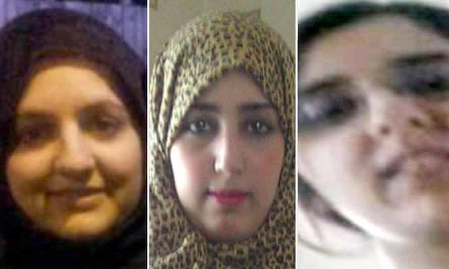 Zohra Dawood, Khadiga Bibi Dawood and Sugra Dawood, who are feared to have travelled to war-torn Syria.