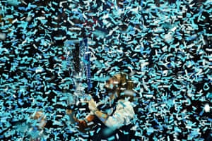 London, England Greece's Stefanos Tsitsipas holds the winner's trophy after the men's singles final on day eight of the ATP World Tour Finals tennis tournament at the O2 Arena. Tsitsipas beat Austria's Dominic Thiem to win the match 6-7, 6-2, 7-6