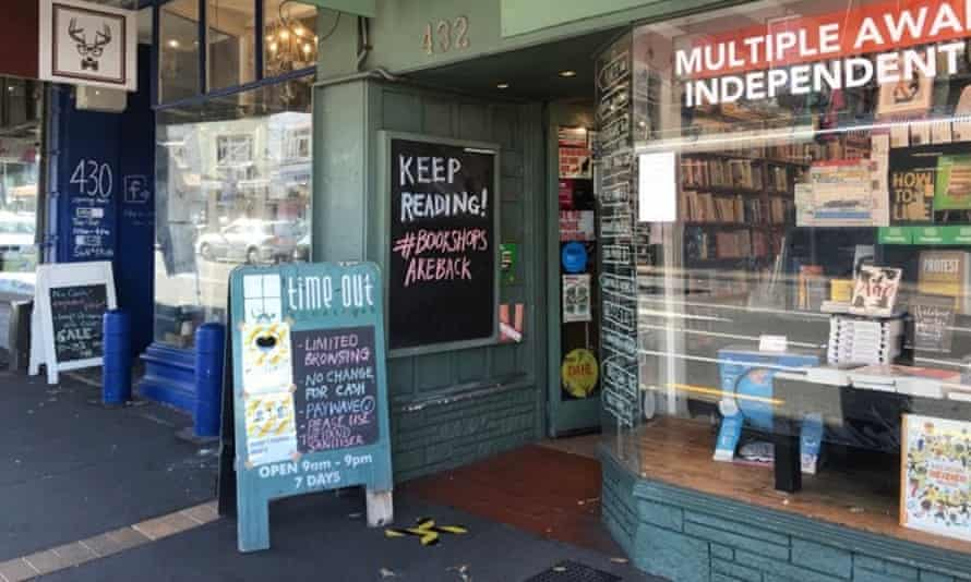 The Time Out bookshop in Mt Eden, Auckland