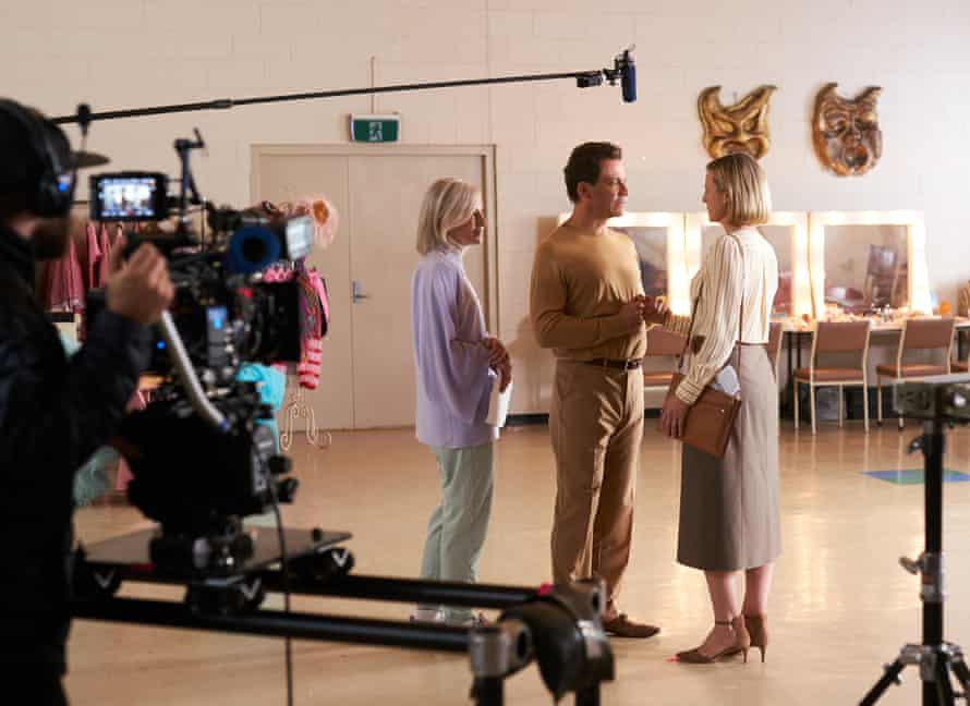 Cate Blanchett and Dominic West on set of Stateless.
