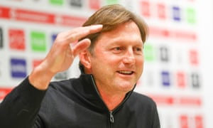 Ralph Hasenhüttl has trials at Chelsea and Bolton in his playing days but has finally made it to England as a manager.