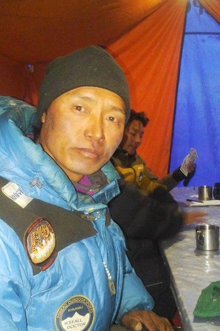 Nima Dorchi in tent