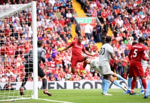 Sturridge scores the fourth for The Reds.