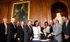 House speaker Paul Ryan hosts a signing ceremony for the Comprehensive Addiction and Recovery Act on Thursday.