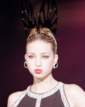 Ivanka Trump on the catwalk at Paco Rabanne's fashion show in Paris in the 90s.