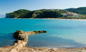 San Stefano beach and harbour, Corfu