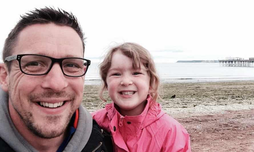 Adam Davies with daughter Nia.