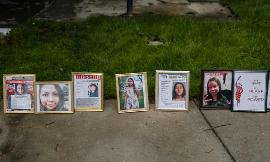 A memorial to missing Native American women at Morrill Meadows Park in Kent, Washington.