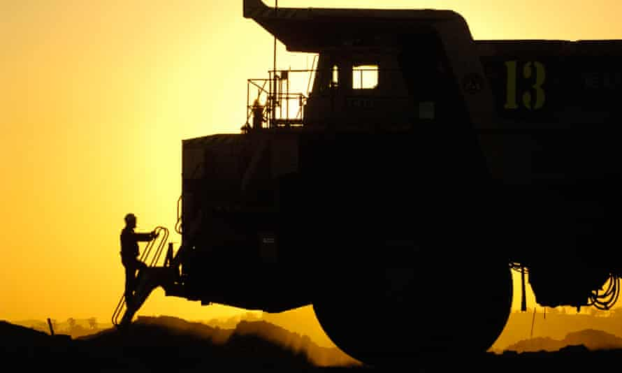 A giant truck at a NSW coalmine