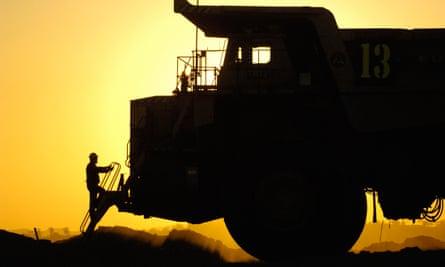 A coalmining truck