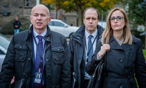 Programme Name: Happy Valley series 2 - TX: n/a - Episode: n/a (No. 4) - Picture Shows: Andy Shepherd (VINCENT FRANKLIN), John Wadsworth (KEVIN DOYLE), Jodie Shackleton (KATHERINE KELLY) - (C) Red Productions - Photographer: Ben Blackall
