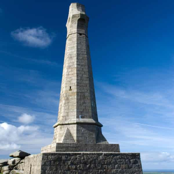 The Basset Memorial on Carn Brea hill.