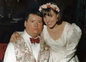 On their wedding day in 1993