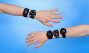 Two arms, five sports smartwatches