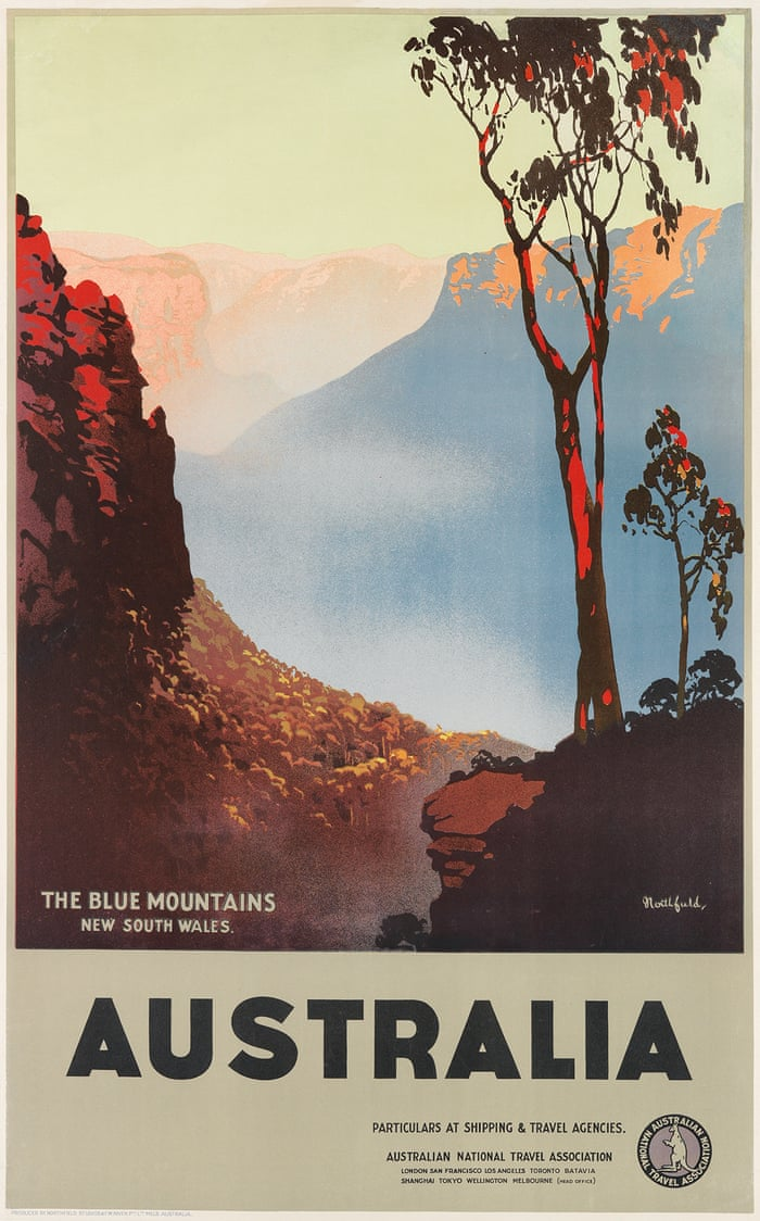 Take A Trip Into The Past Rare Australian Vintage Travel Posters In Pictures Art And Design The Guardian