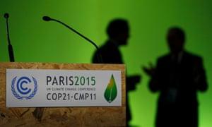 Participant gather during the Paris climate change talks