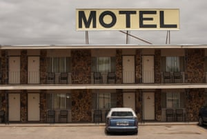 A roadside motel in Pine Bluffs, Wyoming.