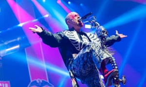 Baring his soul … Ivan Moody of Five Finger Death Punch.