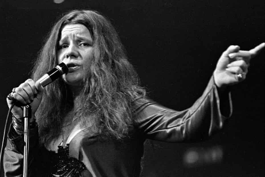 'How I got on stage, I have no idea' … Janis Joplin at the Royal Albert Hall in 1969.
