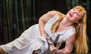 Sharp performance … Lucy Crowe as Pamina in The Magic Flute.