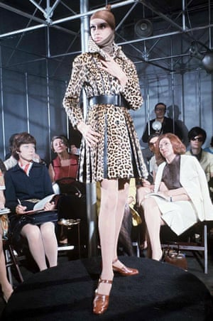 A Paco Rabanne fashion show in Paris, 1968.