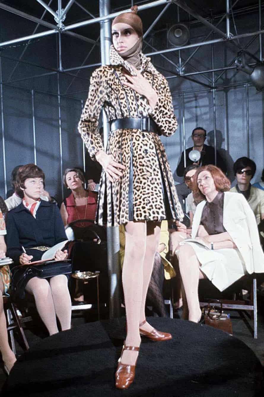 A Paco Rabanne fashion show in Paris, 1968.