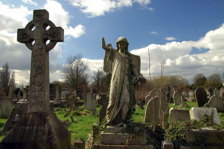 Victorian graves at Kensal Green Cemetery.