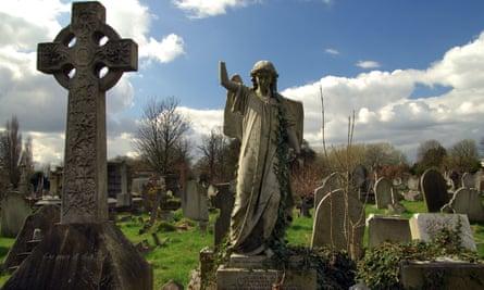 Victorian graves, Kensal Green Cemetery, London.