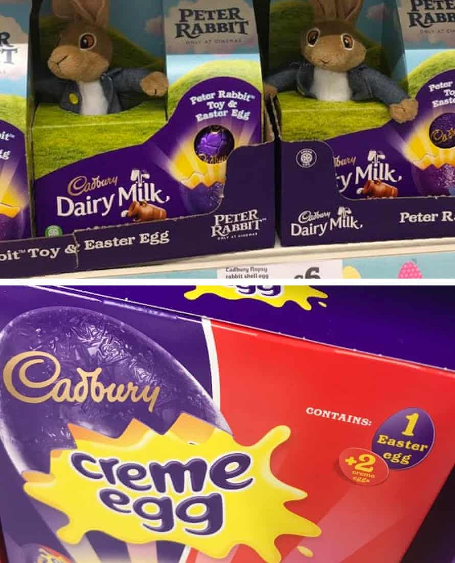 Cadbury products labelled with the word Easter on display in a supermarket this year.