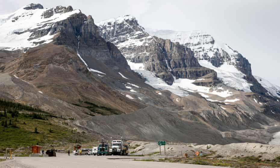 Receding glaciers.