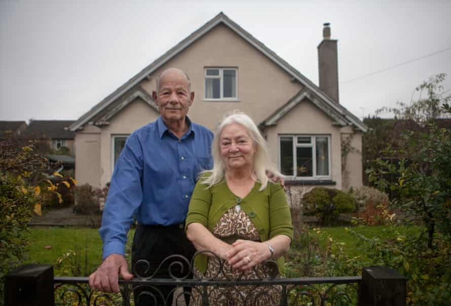 Christine and Jorg Mathis at their home in Wiltshire