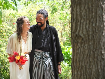 'The whole thing was being created by the people around us and by each other,' Kate and Genki on their wedding day